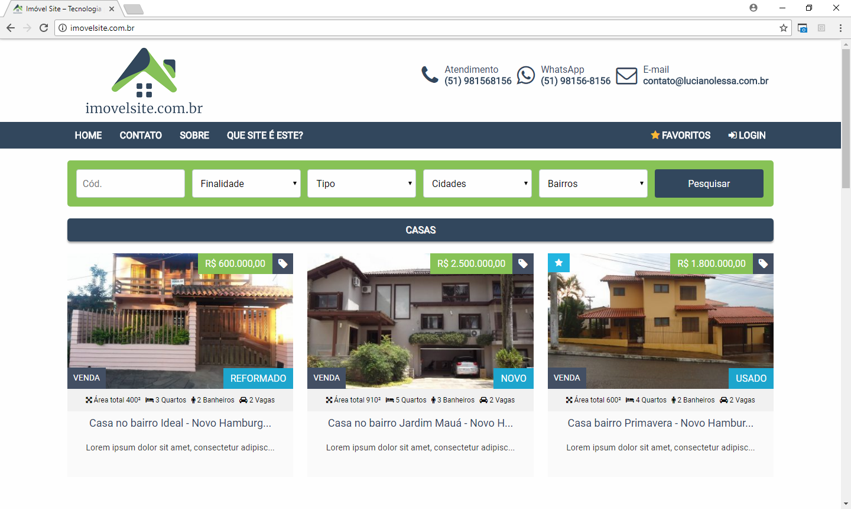 site para imobiliarias e corretores